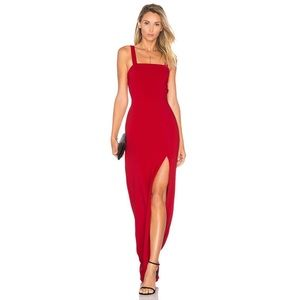 NWT Lovers + Friends Soul Maxi Dress in Red